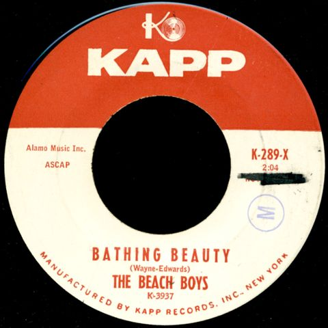 the beach boys bathing beauty on the beach at sunset f1と音盤と